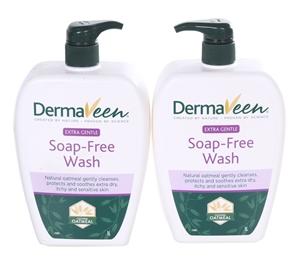 2 x DERMAVEEN Extra Gentle Soap-Free Was