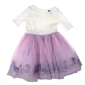 ZUNIE Girls Unicorn Dress, Size 10, Whit