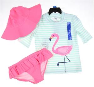 CARTER`S Girl`s 3pc Swim Set, Size 7, UP