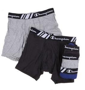 CHAMPION Men`s 5pk Boxer Briefs, Size M,