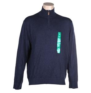 NAUTICA Men`s Quarter Zip Pullover, Size