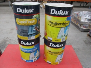 Qty 4 x Dulux Assorted Paint