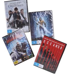 4 x Assorted DVDs, Including: OCEAN`S 8,