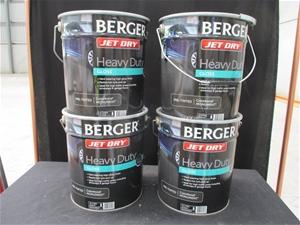 Qty 4 x Berger 10 Litre Paint