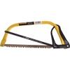 2 x STANLEY 300mm Bow/Hacksaws Tubular Steel Frame, Impact Resistant Knuckl