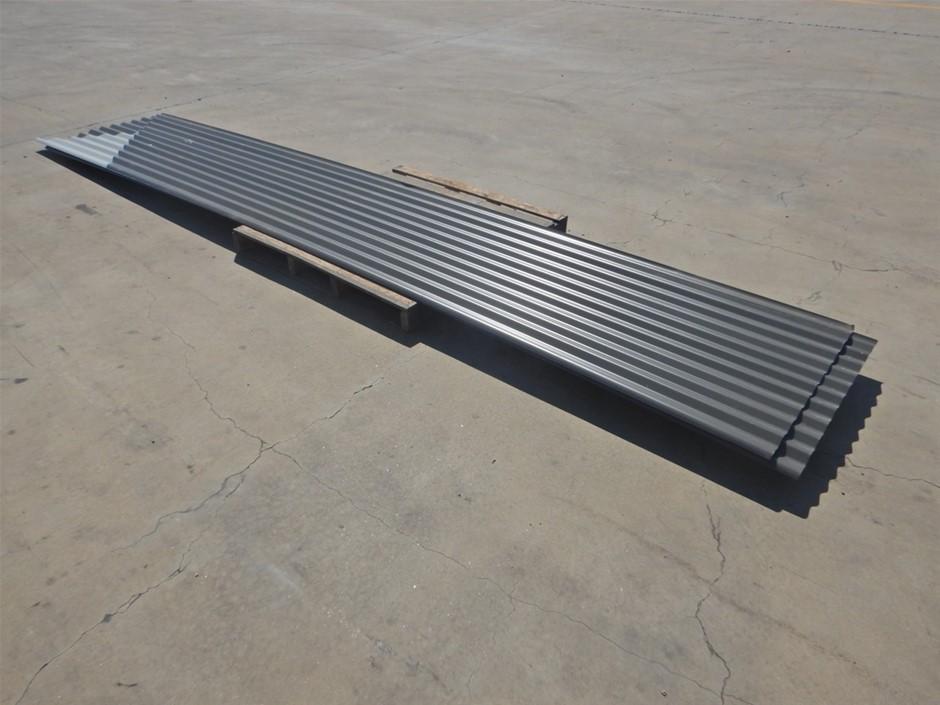 A Qty Of 5 Colour Bond Corrugated Sheeting (Pooraka, SA)