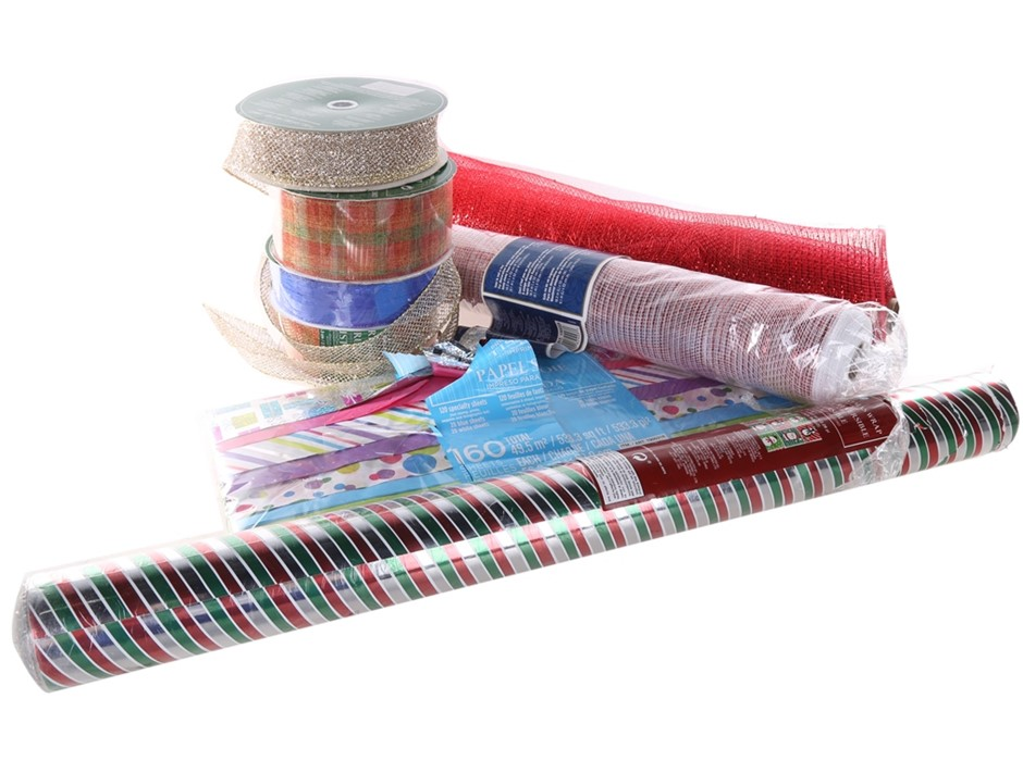 8 x Assorted Christmas Products, Comprising: 160 x Premium Quality Gift Wra