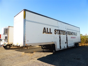 2001 Maxi Trans ST2 45` Tandem Drop Deck Enclosed Trailer
