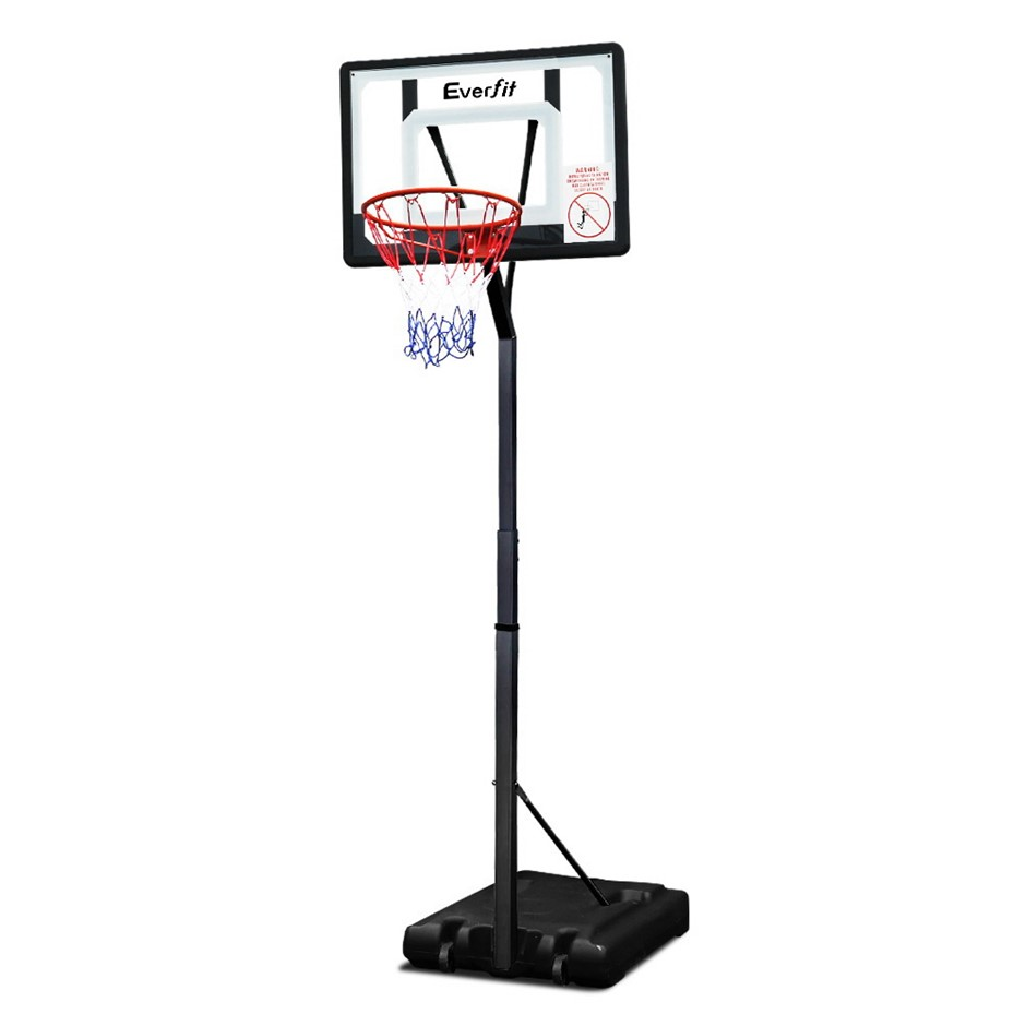 Everfit 2.6M Basketball Stand Hoop System Rim Height Adjustable Portable