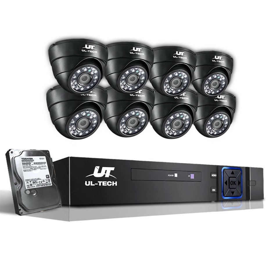UL-tech CCTV Camera Home Security System 8CH DVR 1080P 1TB IP Day Night