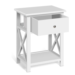 Bedside Tables Drawers Side Table White
