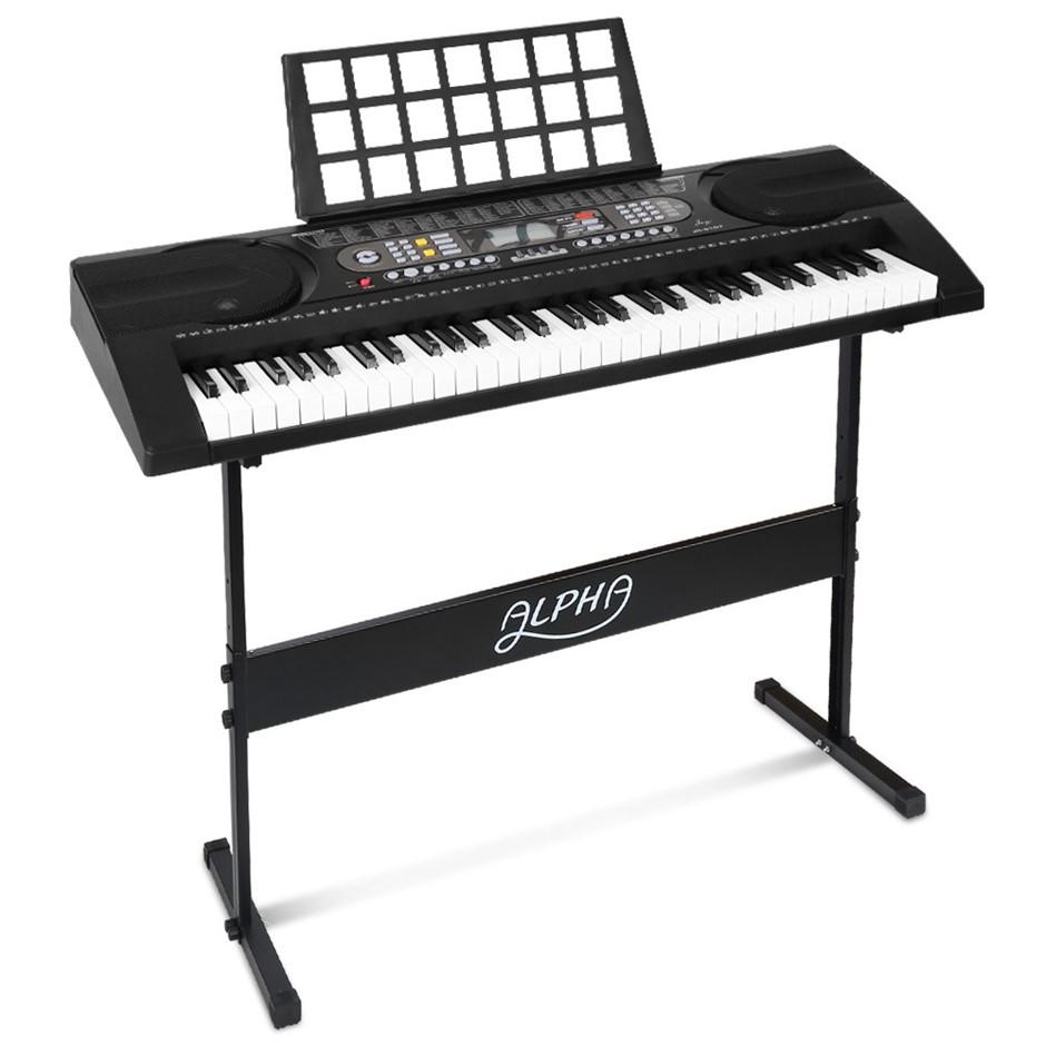 Alpha 61 Keys Electronic Piano Keyboard Electric Touch Sensitive Midi