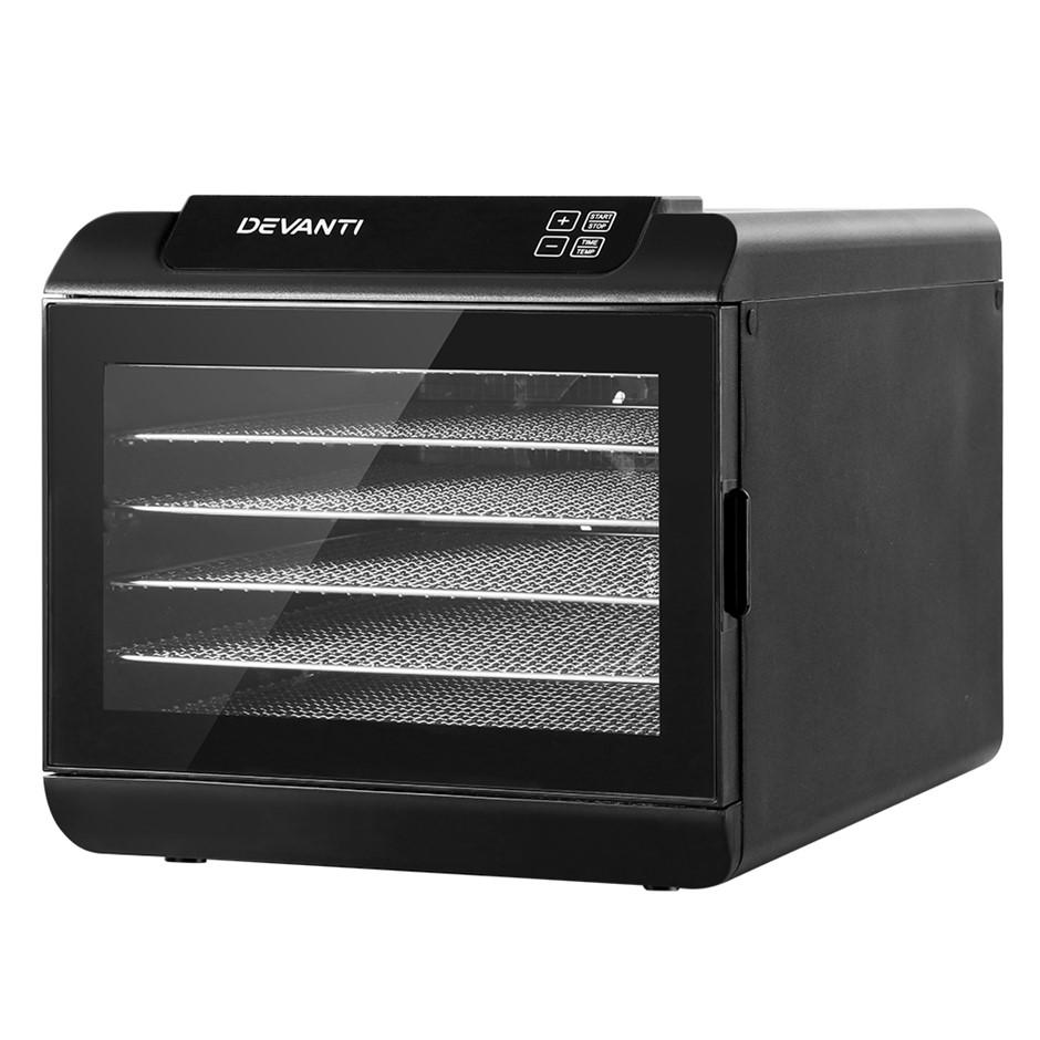 Devanti Food Dehydrators 6 Tray Beef Jerk Dehydrator Dryer Preserver