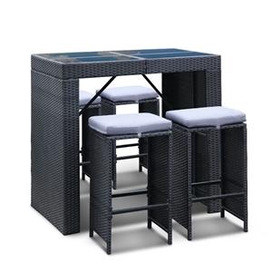 Gardeon 5pcs Outdoor Furniture Bar Table