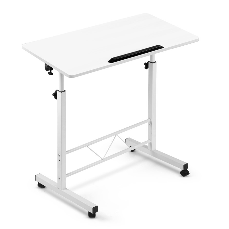 Portable Laptop Desk Computer Table Adjustable Stand Study Office White