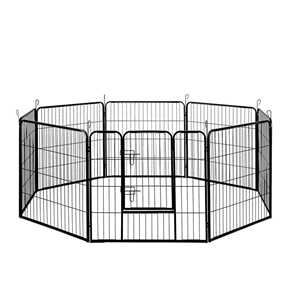 i.Pet Pet Play Pen 80cm - Black