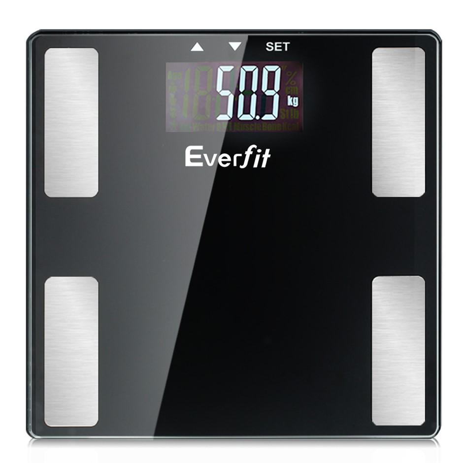 Everfit Digital Body Fat Weight Scale Bathroom Gym Bone BMI Water Glass LCD