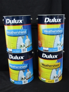 Qty 4 x Dulux 10 Litres Weathershield Pa