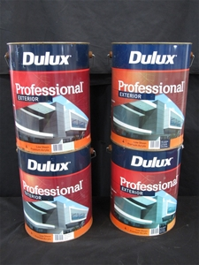 Qty 4 x Dulux 10 Litres Professional Ext