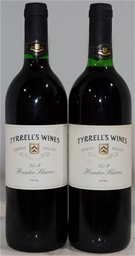 Tyrrell's Vat 9 Shiraz 1996 (2x 750mL), Hunter. Cork closure.