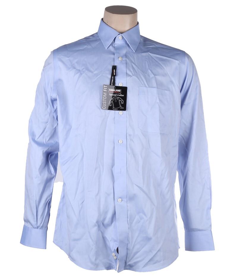 2 x SIGNATURE Men`s Custom Fit Non-Iron Dress Shirts, Size 41-86/87, 100% C