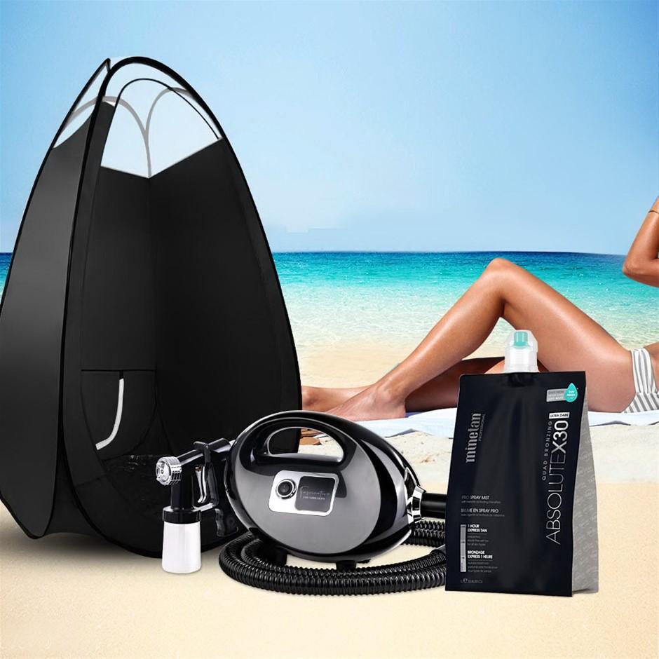 Spray Tan Machine Solution Tent Kit Spray Gun HVLP Sunless ABSX30