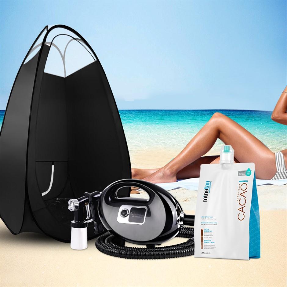 Spray Tan Machine Solution Tent Kit Spray Gun HVLP Sunless CACAO