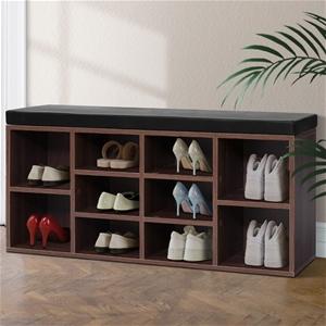 Artiss Shoe Cabinet Bench Storage Rack O