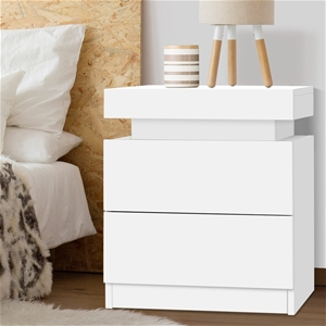 Artiss Bedside Tables 2 Drawers Storage