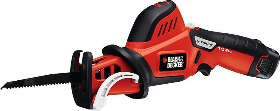 BLACK & DECKER 10.8V Cordless Pruning Saw 1.3Ah Battery 150mm Blade. (SN:PS
