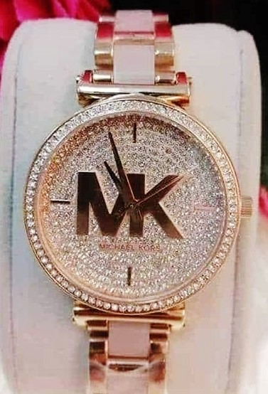 New Michael Kors Couture NY 'Sofie Pave' signature MK stunning watch.