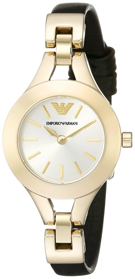 Simply stylish new Emporio Armani Gold-plated Ladies watch.