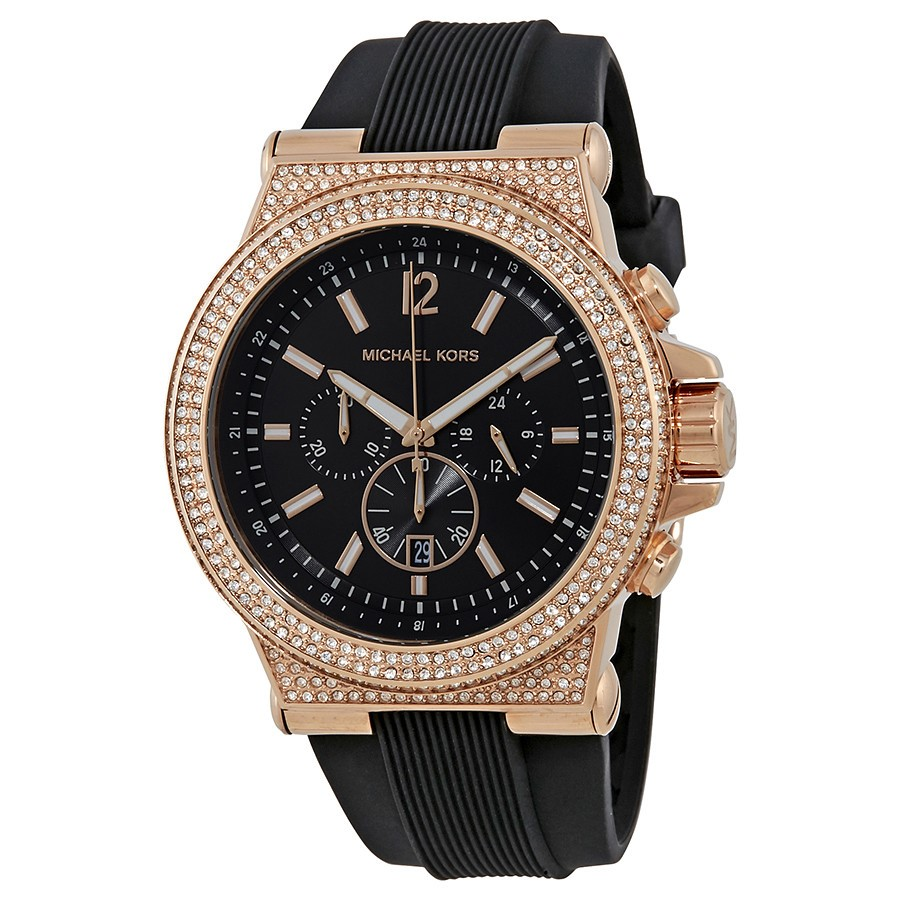 Sophisticated new Michael Kors Dylan Chronograph Crystal Watch