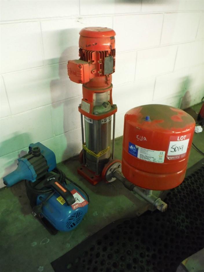 Quantity of 2 Various Pumps