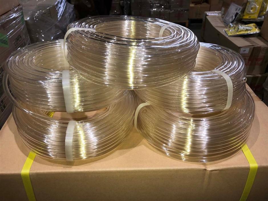 5 x Rolls of 6mm x 30mtr Clear Tube, Brand: Lumen