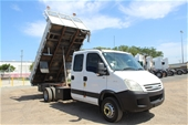 Unreserved 2007 Iveco Daily Auto Crane Dual Cab Tipper Truck