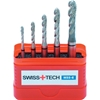SWISS+TECH 5pc Spiral Flute Tap Set, Pitch Sizes: M3 x 0.5mm, M4 x 0.7mm, M
