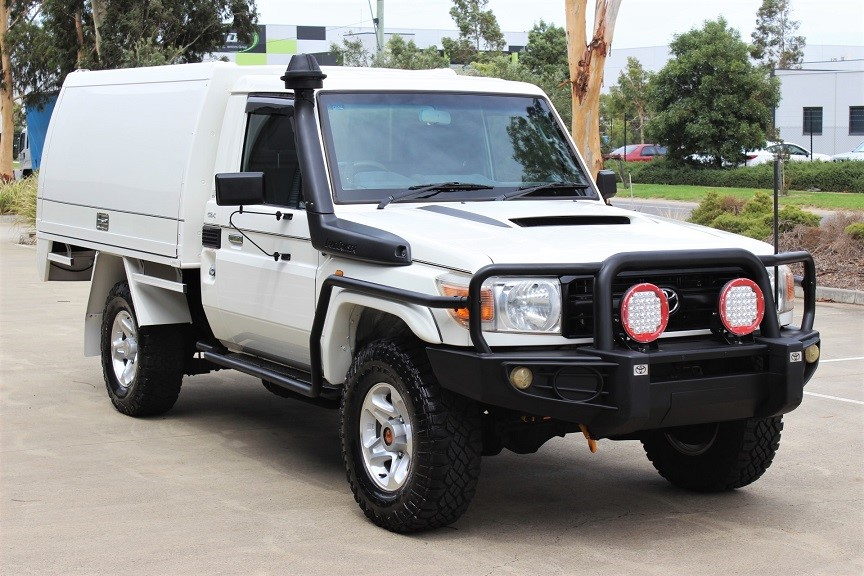 2011 Toyota Landcruiser V8 Turbo Diesel Service Body 4WD Manual Cab Chassis