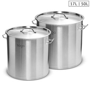 SOGA Stock Pot 17L 50L Top Grade Thick S