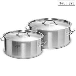 SOGA Stock Pot 14L 32L Top Grade Thick S