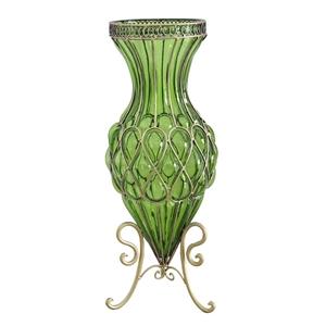 SOGA 65cm Green Glass Tall Floor Vase wi