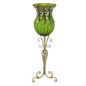 SOGA 85cm Green Glass Floor Vase with Ta