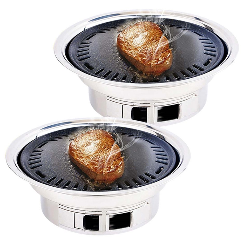 SOGA 2x BBQ Grill Stainless Steel Portable Smokeless Charcoal Grill