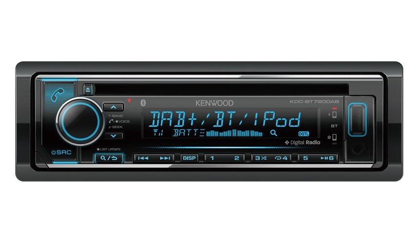 Kenwood KDC-BT720DAB CD-Receiver with Built-in Bluetooth & DAB+ Radio