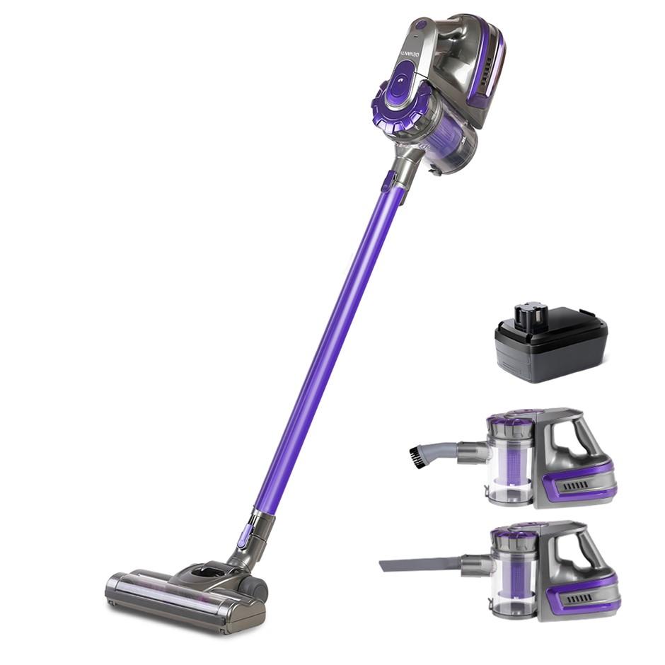 Devanti Handheld Vacuum Cleaner Cordless Handstick Vac 2-Speed 150W Purple