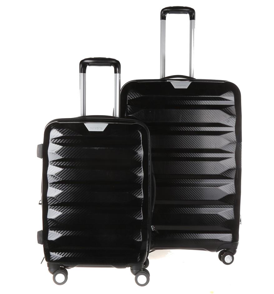 SAMSONITE Hard Side Spinner Luggage 2pc Set. 71cm & Carry- On Luggage. N.B