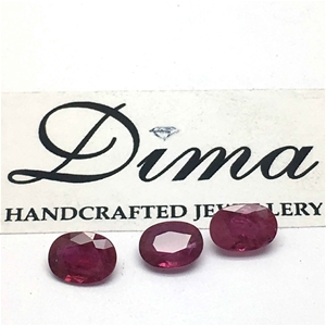 Three Stones Ruby, 2.00ct in Total