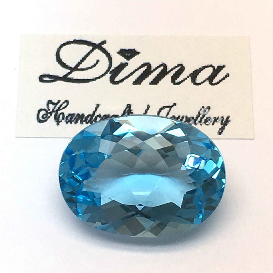 One Stone Blue Topaz, 9.20ct in Total