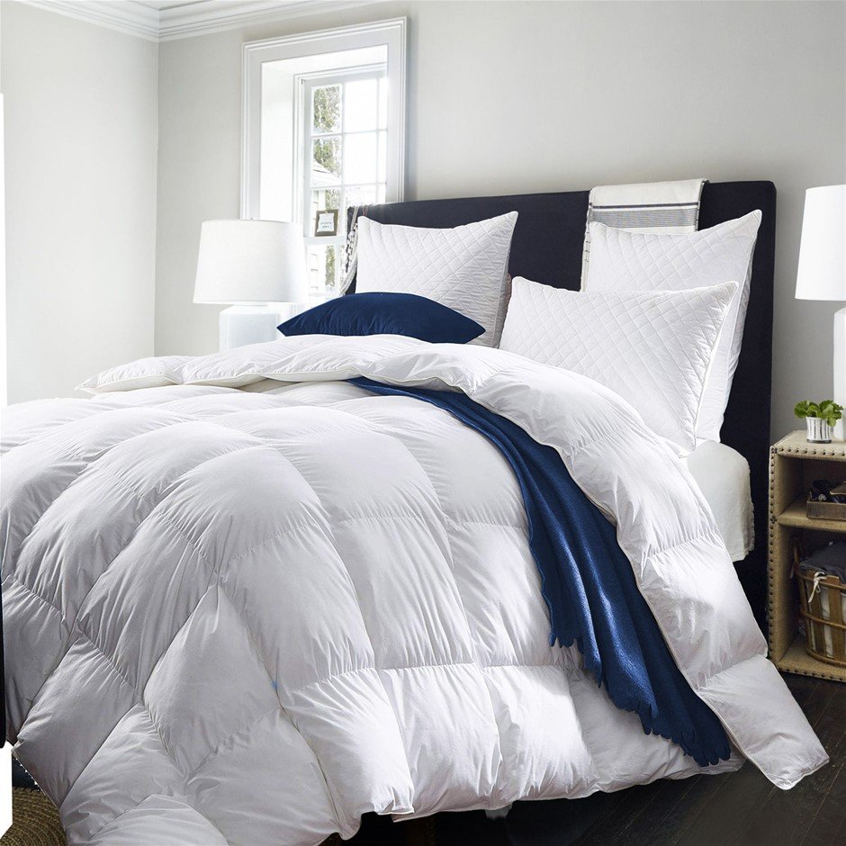 Royal Comfort Duck Down Quilt - Queen 233TC Cover 500gsm