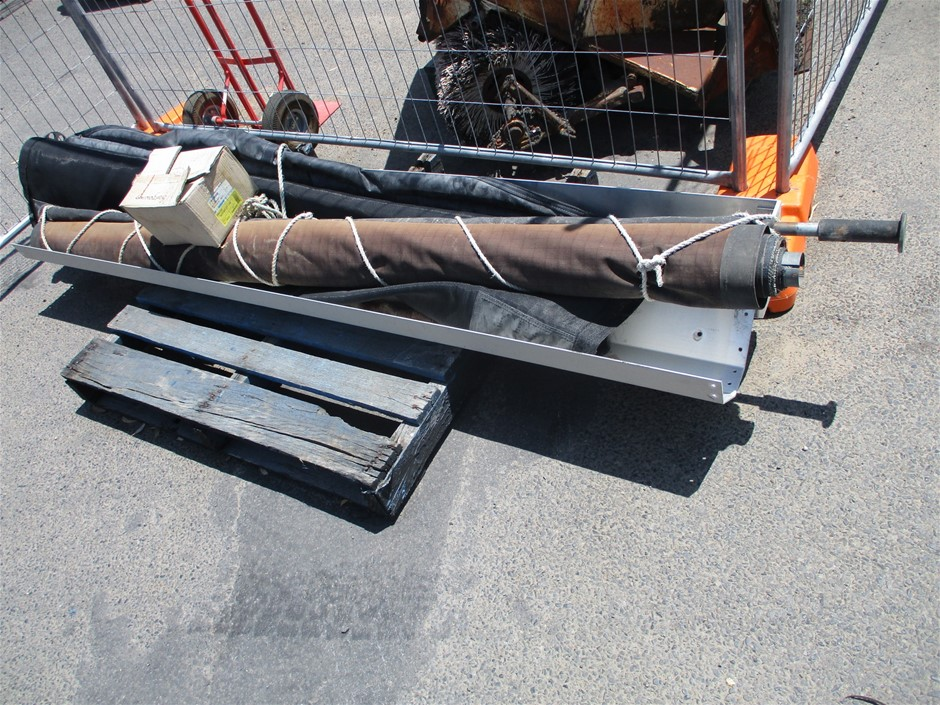 2 x Retractable Truck Tarp Parts